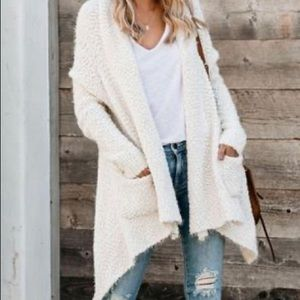 Grey Pocketed Cardigan